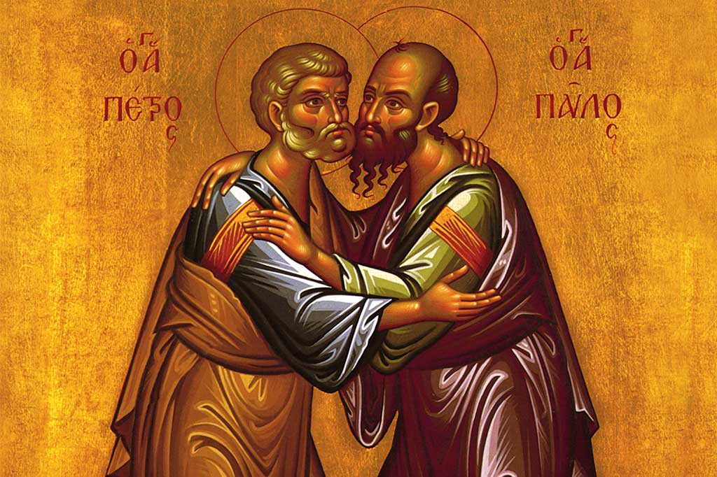 Image result for feast of ss peter and paul orthodox icon