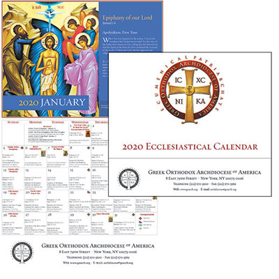 2020 Parish Ecclesiastical Calendars Offered - Online Ordering Now Available