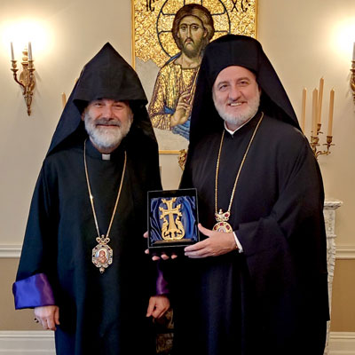 Archbishop Elpidophoros Meets with Archbishop Anoushavan, Prelate of the Eastern Prelacy of the Armenian Apostolic Church