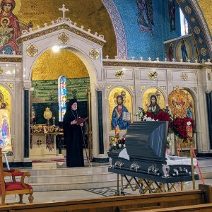 His Eminence Archbishop Elpidophoros Eulogy for Evripides Kontos