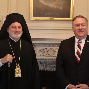 Archbishop Elpidophoros Meets with Secretary of State Pompeo