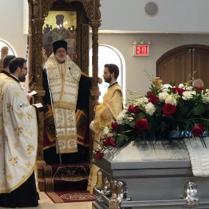 His Eminence Archbishop Elpidophoros  Eulogy for George Zapantis