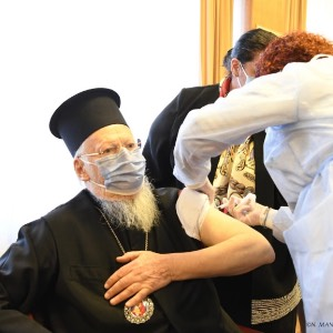 His All Holiness Ecumenical Patriarch Bartholomew Administered Vaccine