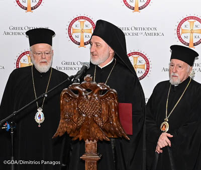 Orthodox Faithful Welcome with Love and Enthusiasm Archbishop Elpidophoros of America