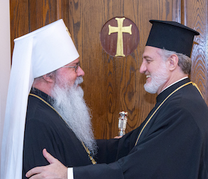 Archbishop Elpidophoros Meets with Metropolitan Tikhon of the OCA