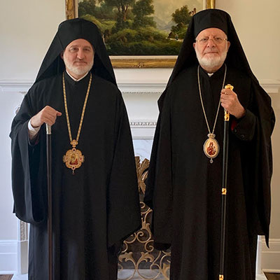 Archbishop Elpidophoros meets with Metropolitan Joseph of the Antiochian Archdiocese