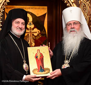 Archbishop Elpidophoros Visits the center of the Orthodox Church in America