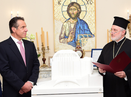 Gov. Cuomo and Archbishop Elpidophoros Announce Construction to resume on St Nicholas
