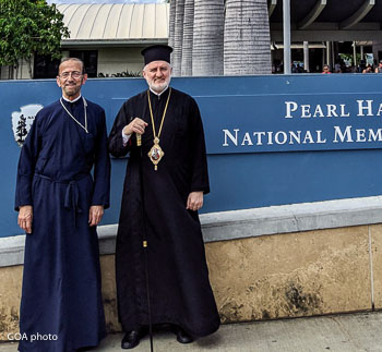 Archbishop Elpidophoros Visits Pearl Harbor
