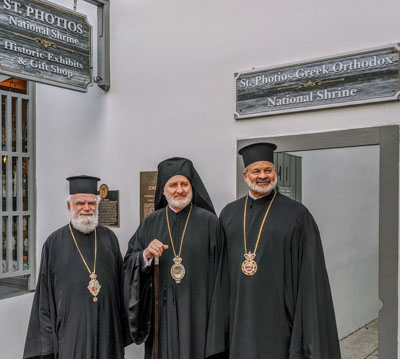 Archbishop Visits Saint Augustine for Saint Photios Annual Pilgrimage